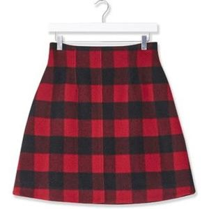 NWT Topshop buffalo check skirt